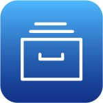 a blue file drawer icon